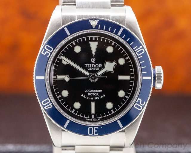 Tudor 79220B Tudor Heritage Black Bay SS / SS Blue Bezel