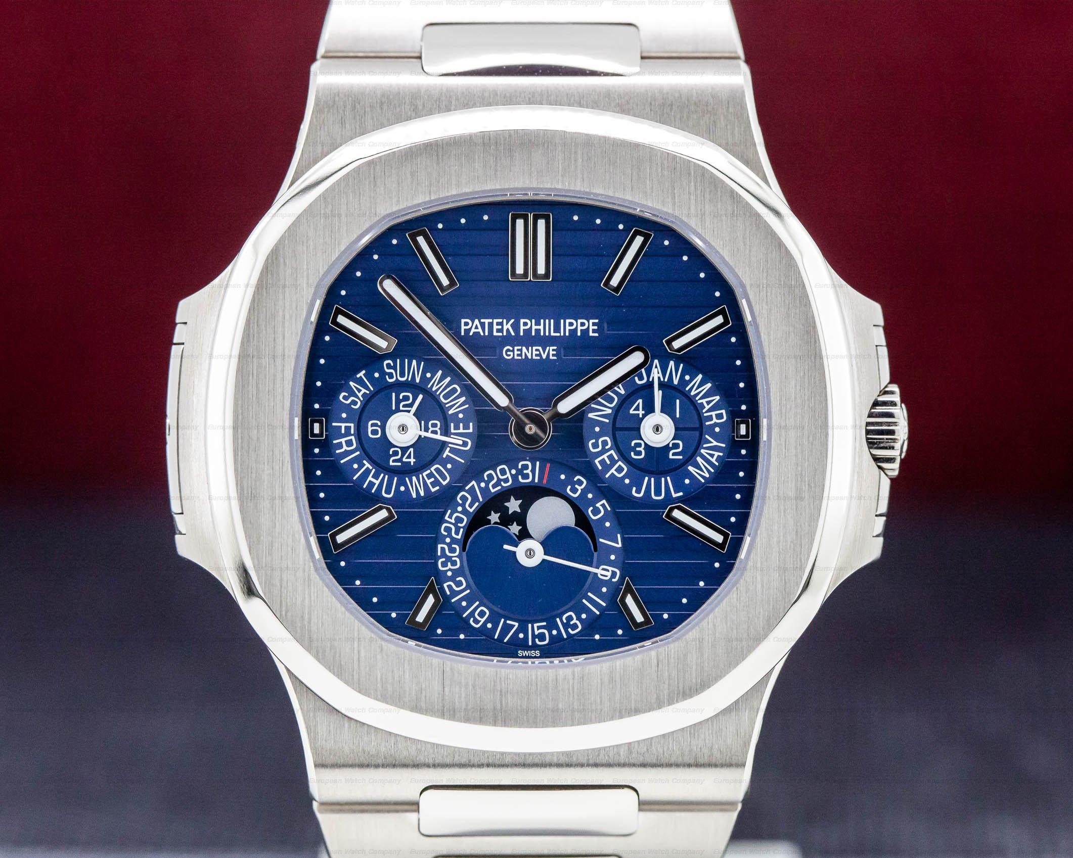 (31092) Patek Philippe 5740/1G-001 Nautilus 5740 Perpetual Calendar 18k Whi