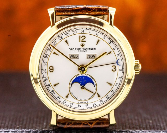 Vacheron Constantin 37150 Triple Date Moon 18K Yellow Gold / Manual Wind