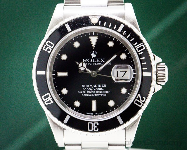 Rolex 16610 Submariner SS Black Dial COMPLETE