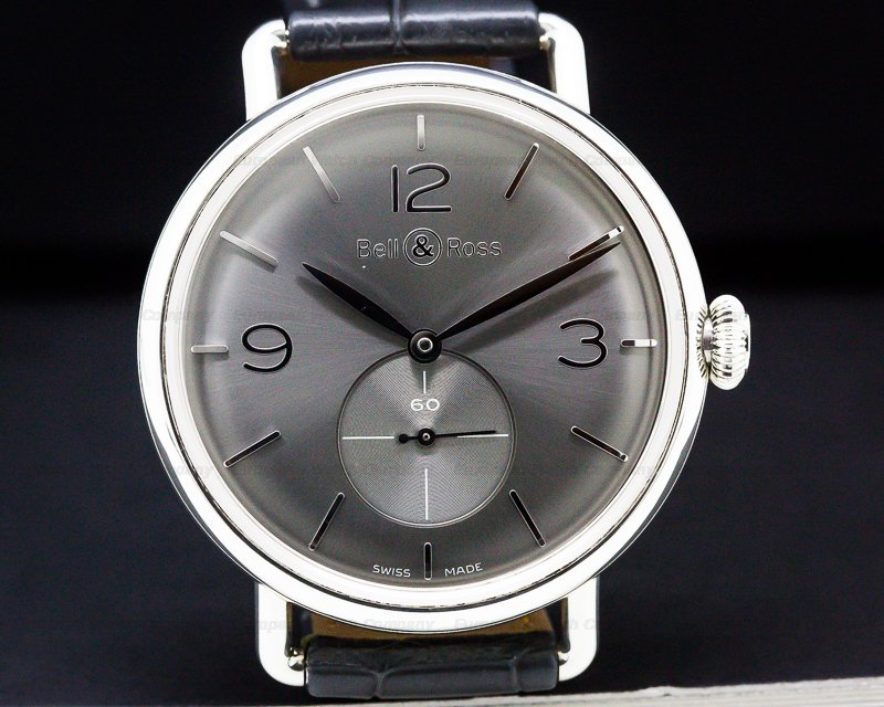 Bell & Ross BRWW1-70-AG-00329 Vintage WW1 Argentium Silver Dial