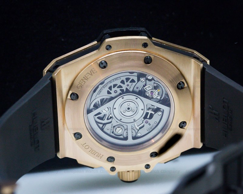 Hublot 703.OQ.0180.RX King Power Unico Chronograph 18k Rose Gold / Rubber