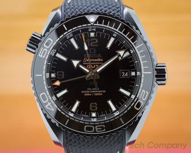 Omega 215.92.46.22.01.001 Seamaster Planet Ocean Deep Black GMT 600M Co-Axial Ceramic
