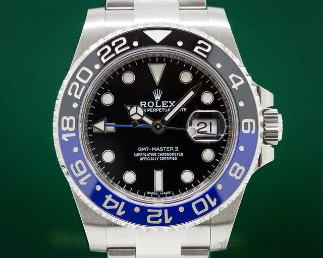 "Rolex 116710BLNR GMT Master II Ceramic Black & Blue ""Batman"" UNWORN"