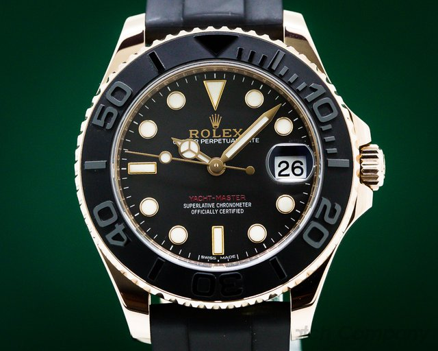 Rolex 268655 Yacht Master 18K Rose Gold / Rubber MIDSIZE