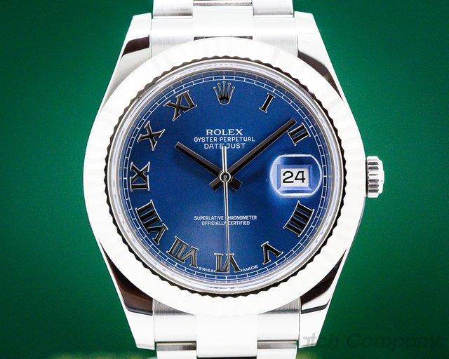 Rolex 116334 Datejust II Silver Dial Blue Roman SS