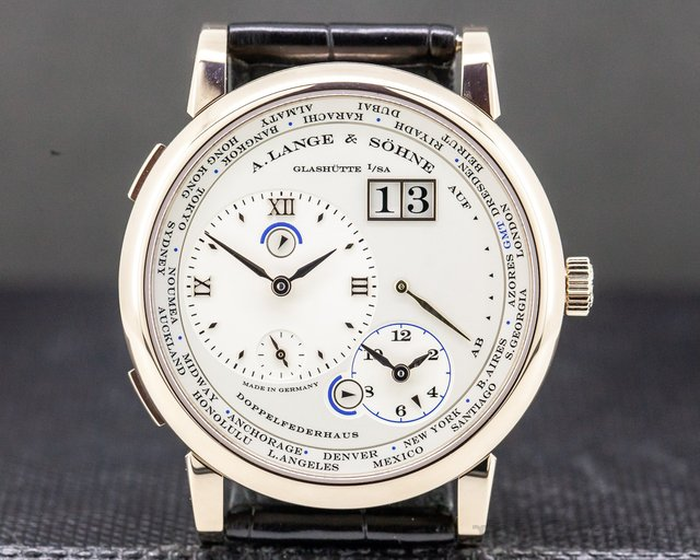 A. Lange and Sohne 116.050 Lange 1 Time Zone 18K HONEY GOLD