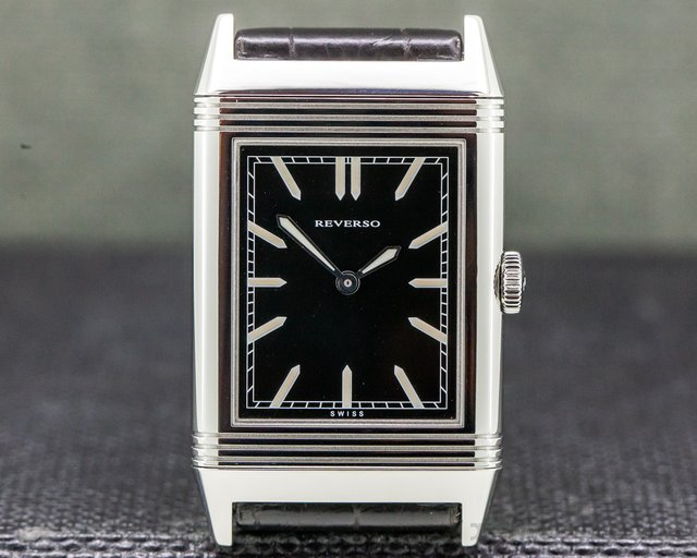 """Jaeger LeCoultre Q2788570 Grande Reverso """"Tribute to 1931"""" Ultra Thin SS Black Dial"""
