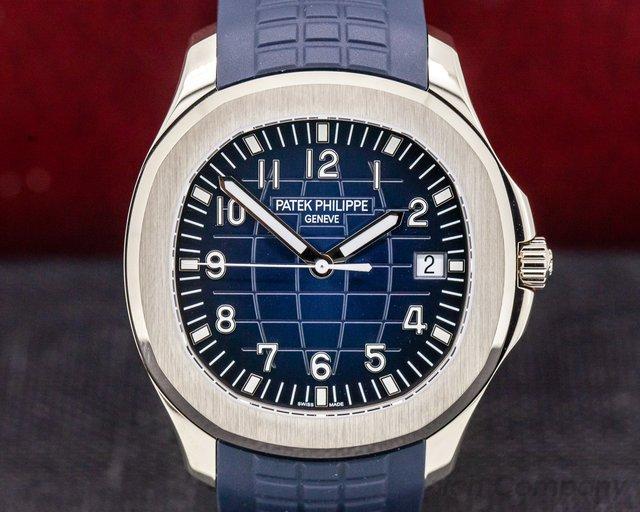 Patek Philippe 5168G-001 Aquanaut 18K White Gold / Blue dial UNWORN
