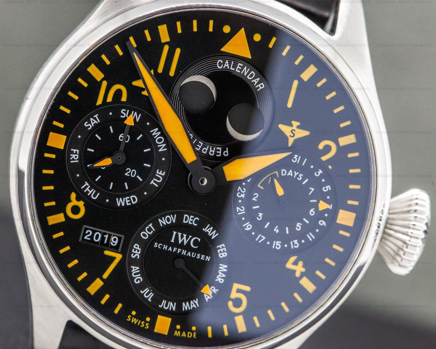 IWC IW502618 Big Pilot Orange Perpetual Calendar SS LIMITED