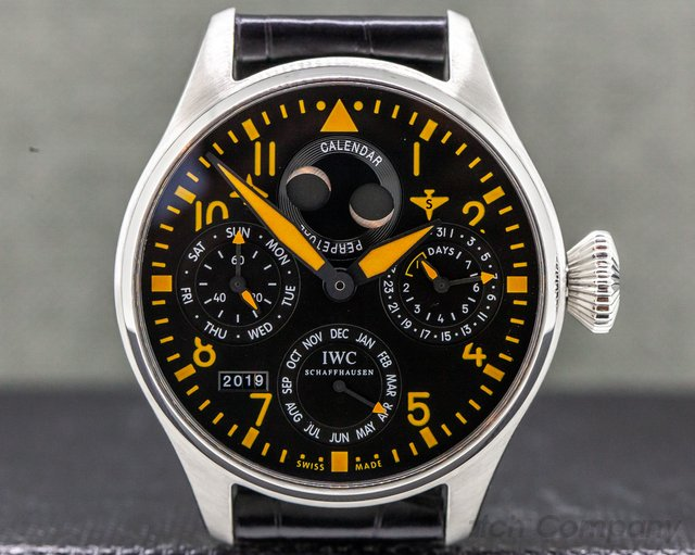 IWC IW502618 Big Pilot Orange Perpetual Calendar SS LIMITED