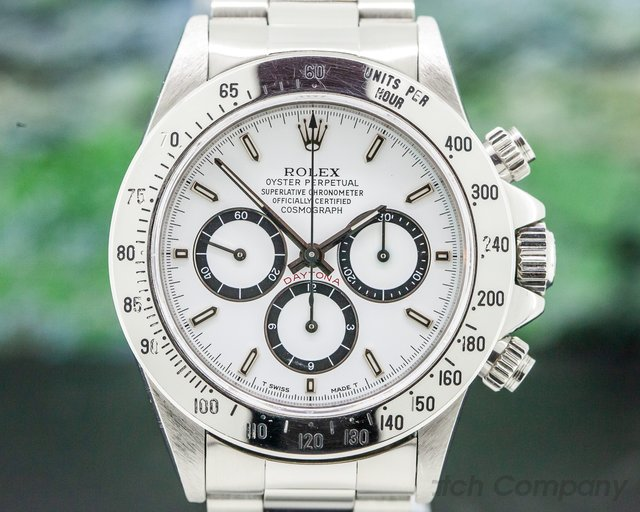 Rolex 16520 Daytona SS White Dial Zenith Movement INVERTED 6 FULL SET