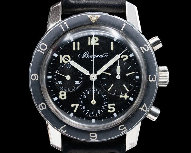 Breguet Type 20 Vintage Type 20 Civilian c. 1971 Three Register Chronograph NICE