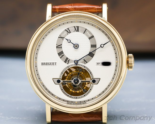 Breguet 5307ba/12/9v6  Tourbillon Automatic Regulator 18K Yellow Gold