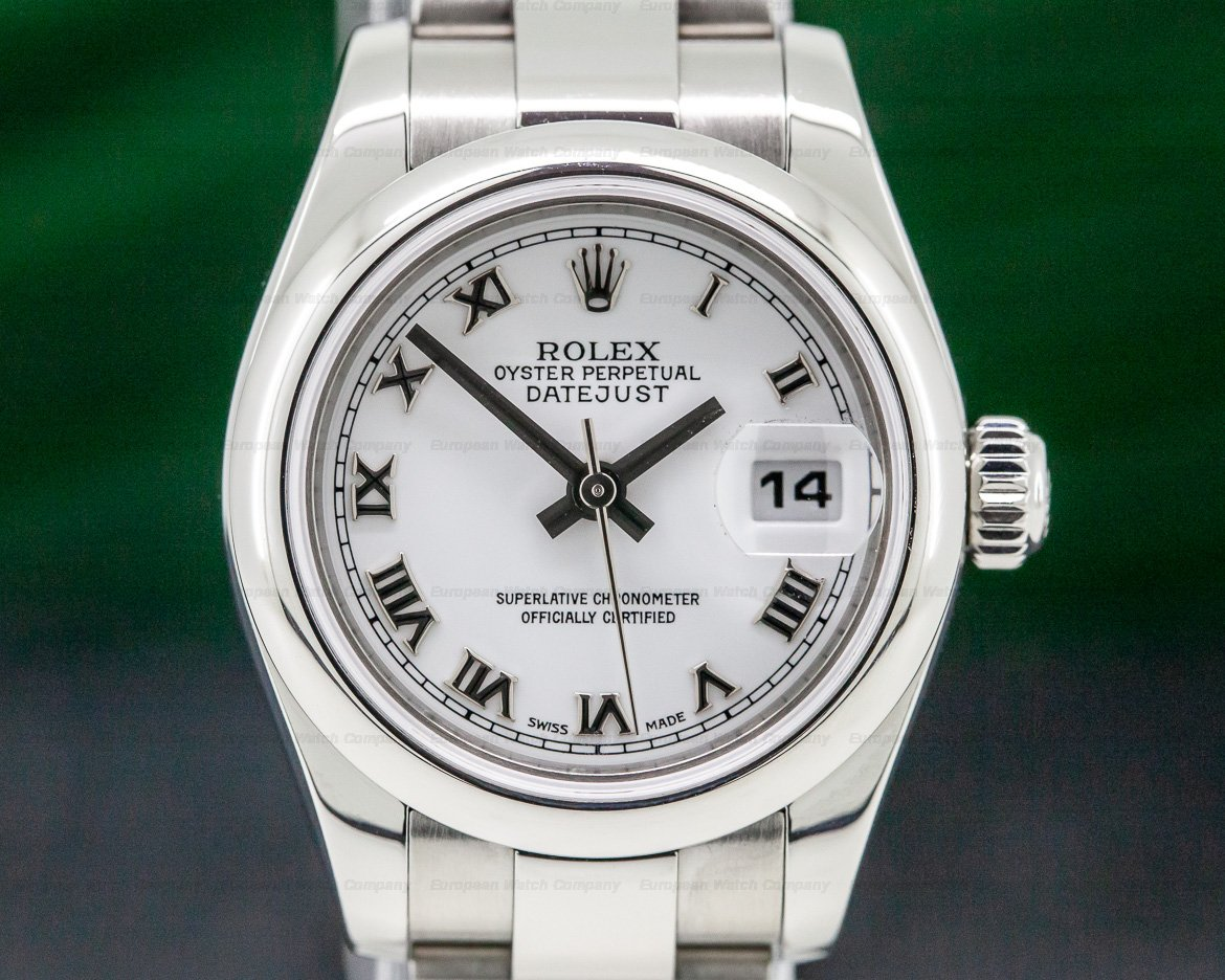 Rolex 179160 Oyster Perpetual Ladies Datejust White Roman Dial SS / SS