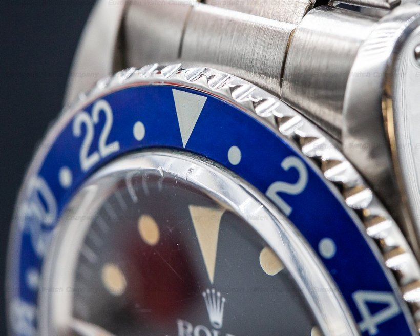 """Rolex 1675 GMT Master """"Blueberry"""" MKIII Radial Dial SS RARE"""