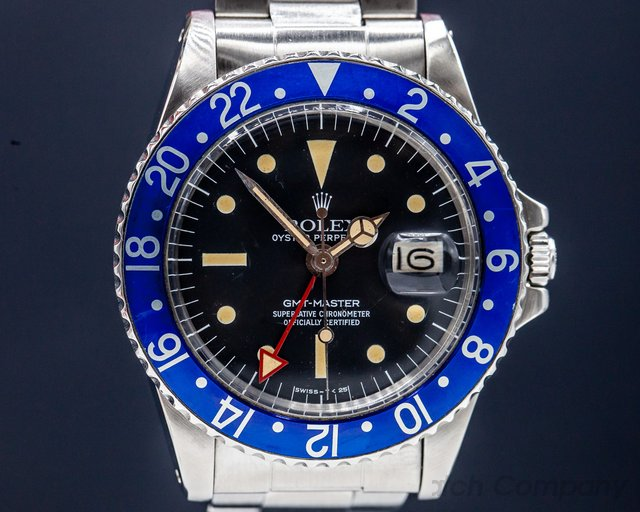 "Rolex 1675 GMT Master ""Blueberry"" MKIII Radial Dial SS RARE"
