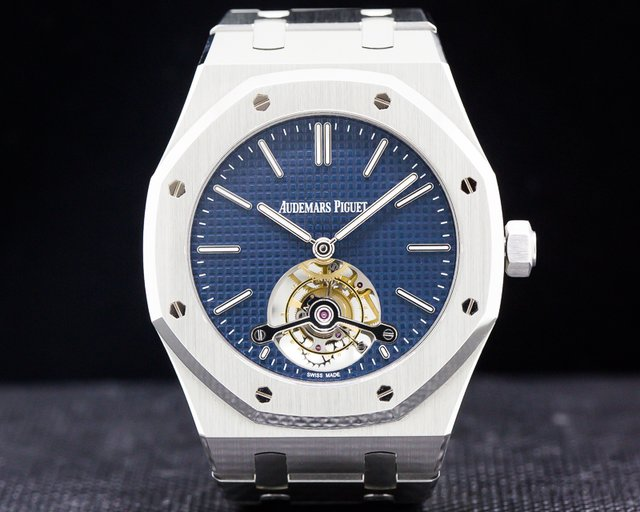Audemars Piguet 26510ST.OO.1220ST.01 Royal Oak Tourbillion Extra Thin Blue Dial LIMITED
