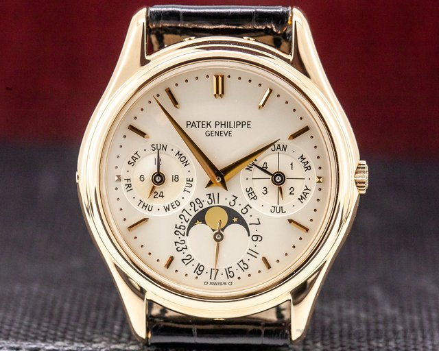 Patek Philippe 3941 R Perpetual Calendar 18K Rose Gold Display Back VERY RARE!