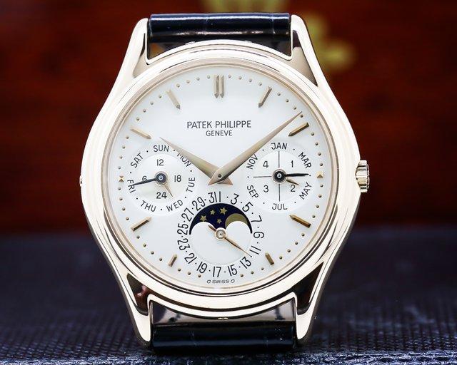 Patek Philippe 3940R Perpetual Calendar Rose Gold Silver Dial