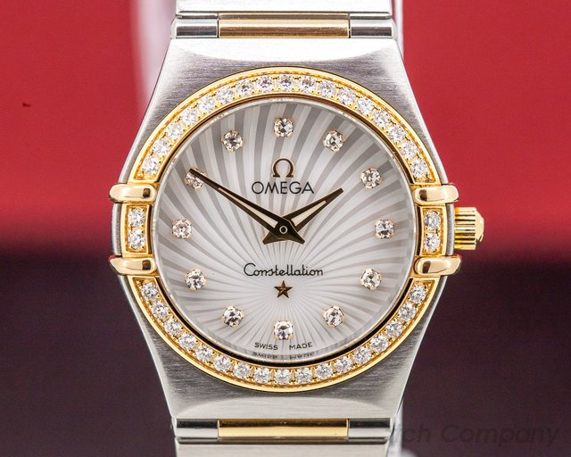 Omega 111.25.26.60.55.001 Ladies Constellation 95 Quartz MOP Dial DIAMONDS 18K / SS