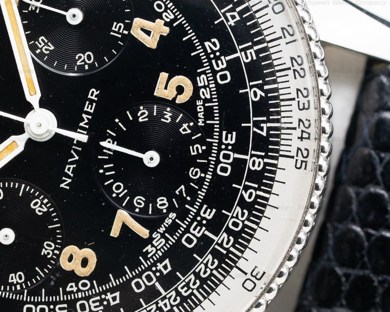 """Breitling 806 Vintage """"ALL BLACK"""" AOPA Navitimer 806 1957"""