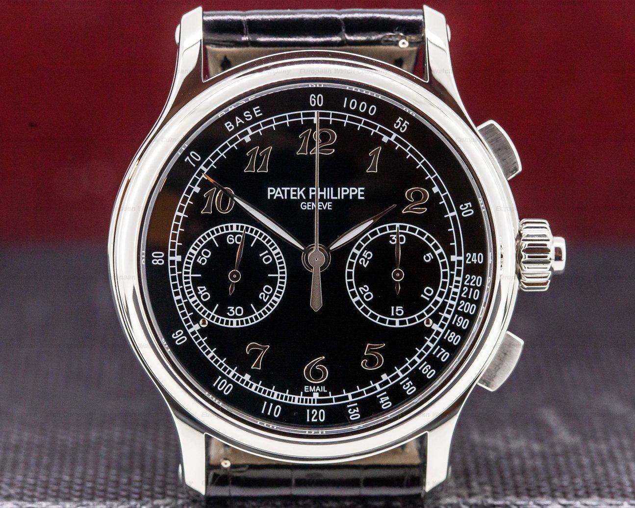 Patek Philippe 5370P-001 Split Second Platinum Black Enamel Dial