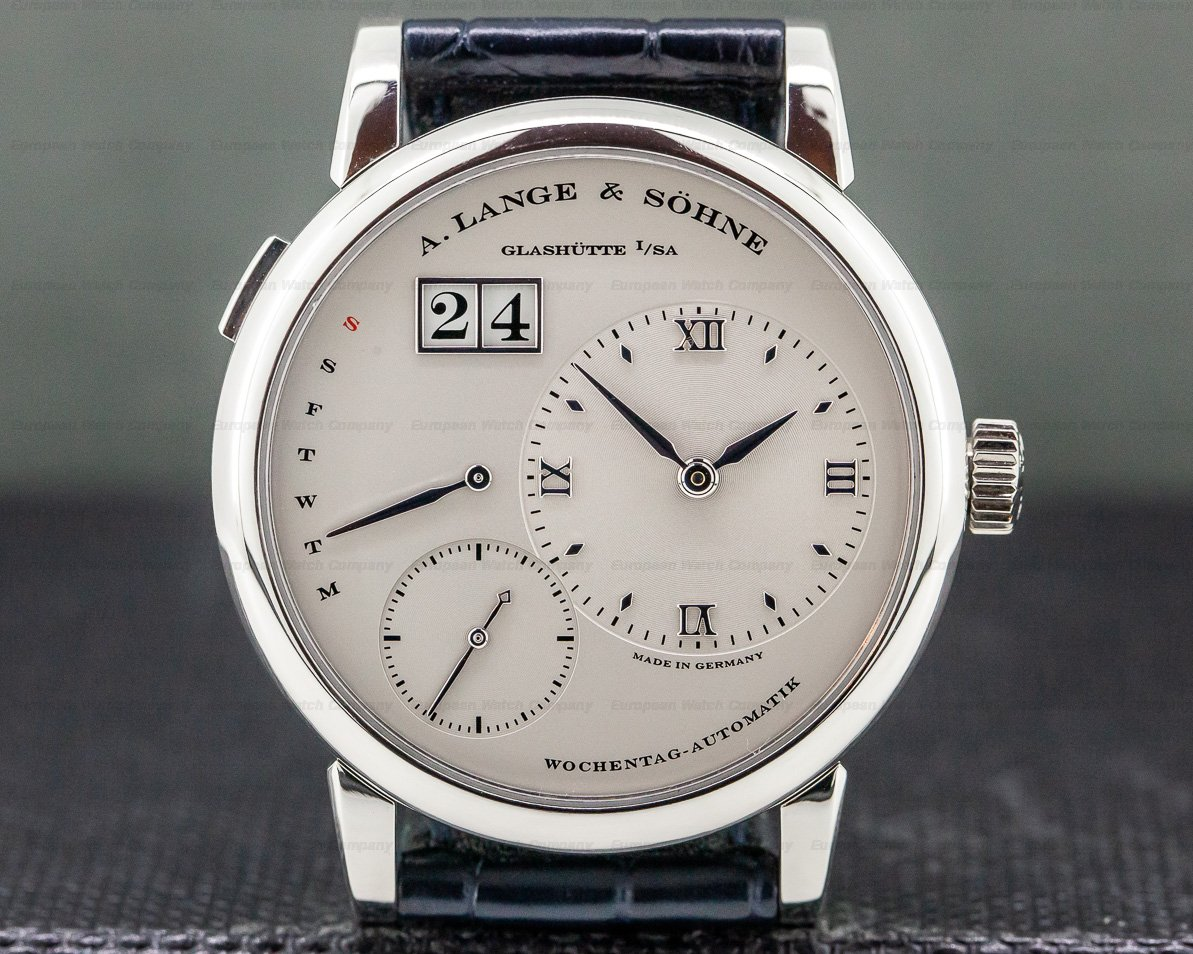 A. Lange and Sohne 320.025 Lange 1 Daymatic Platinum