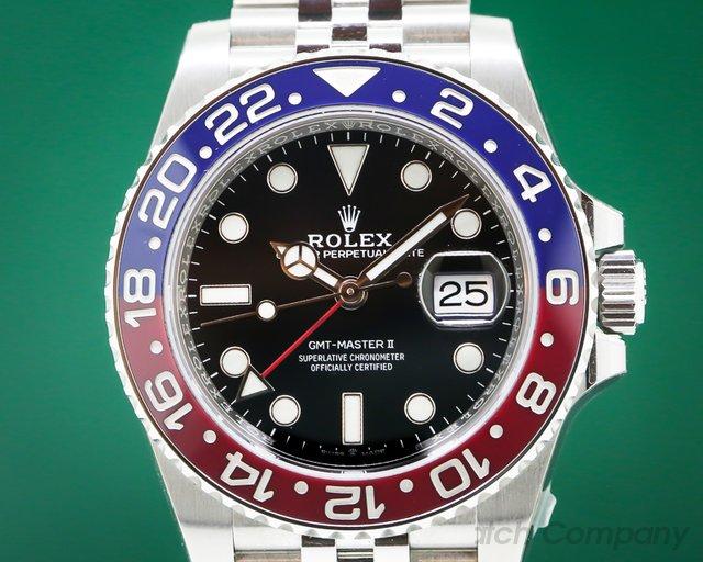 """Rolex 126710 BLRO GMT Master II Ceramic """"Pepsi"""" SS / Jubilee UNWORN STICKERED"""