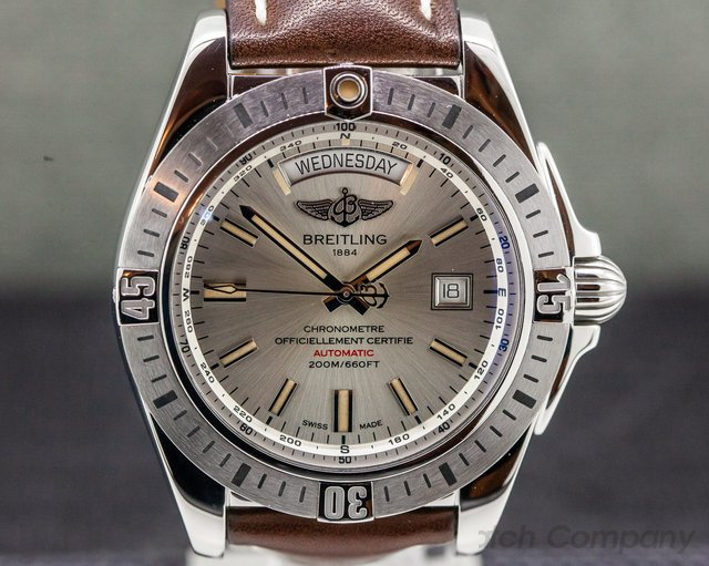 Breitling A45320B9/G797 Galactic 44 Day Date SS / Leather
