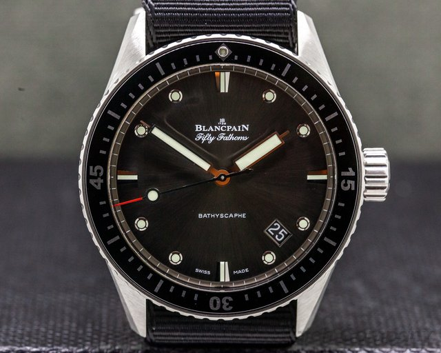 Blancpain 5000-1110-b52a Fifty Fathoms Bathyscaphe Automatic SS