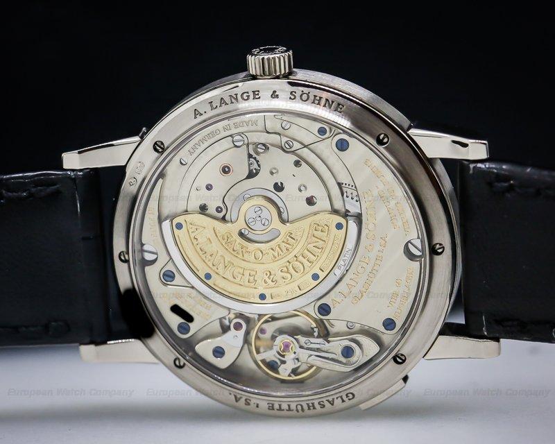 A. Lange and Sohne 308.027 Langematik Big Date Black Dial 18K White Gold