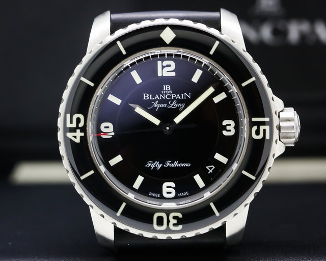 """Blancpain 5015C-1130-52B Fifty Fathoms """"Tribute to Aqualung"""" SS / Rubber"""