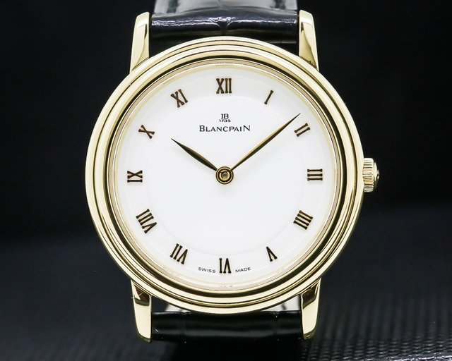 Blancpain 0022-1418-65 Villeret Ladies Ultra Slim 18K Yellow Gold