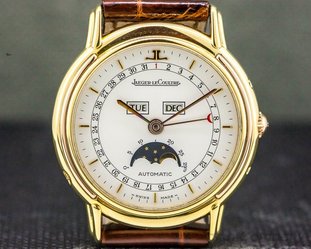 Jaeger LeCoultre 166.7.84 Odysseus Calendar White Dial/18K Yellow Gold