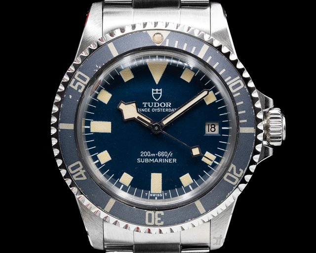Tudor 9411/0 Vintage Snowflake Submariner Blue Dial PERFECT PATINA c. 1976