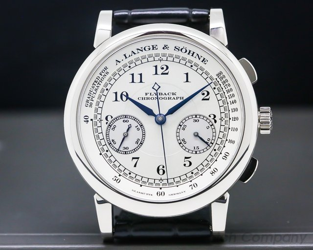 A. Lange and Sohne 401.026 1815 Flyback Chronograph Silver Dial 18K White Gold