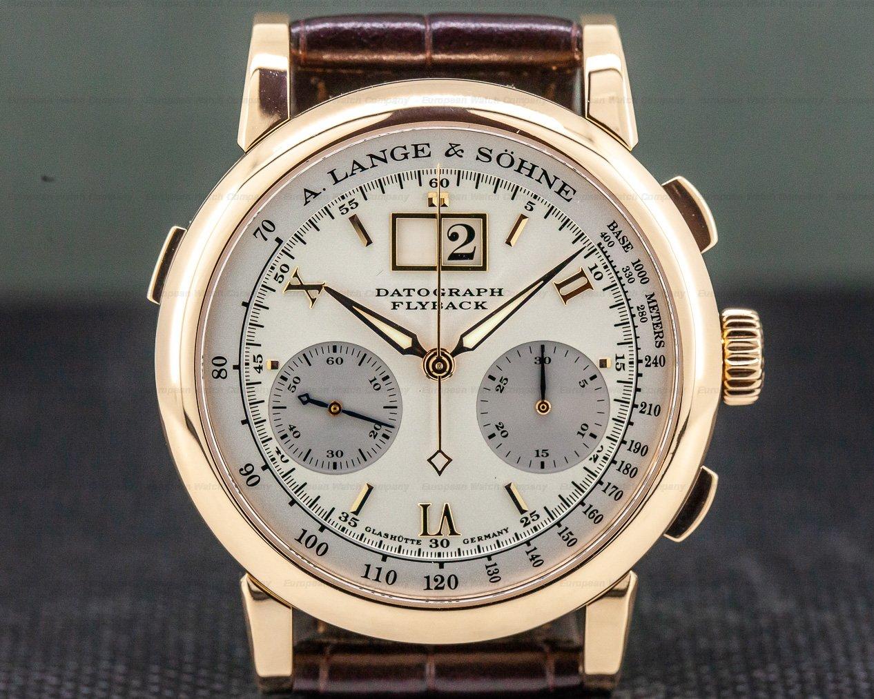 A. Lange and Sohne 403.032 Datograph Flyback 18K Rose Gold / Deployment