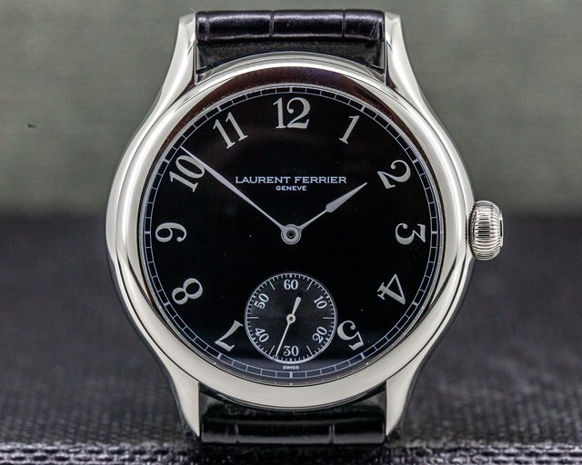 Laurent Ferrier LCF004.AC.NBW.1 Galet Micro Rotor SS Black Arabic Dial