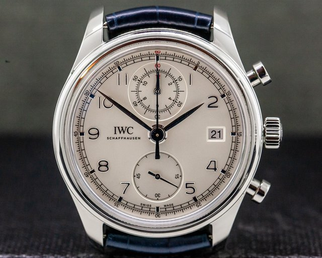 IWC IW390403 Portuguese Chronograph Classic SS / Silver Dial
