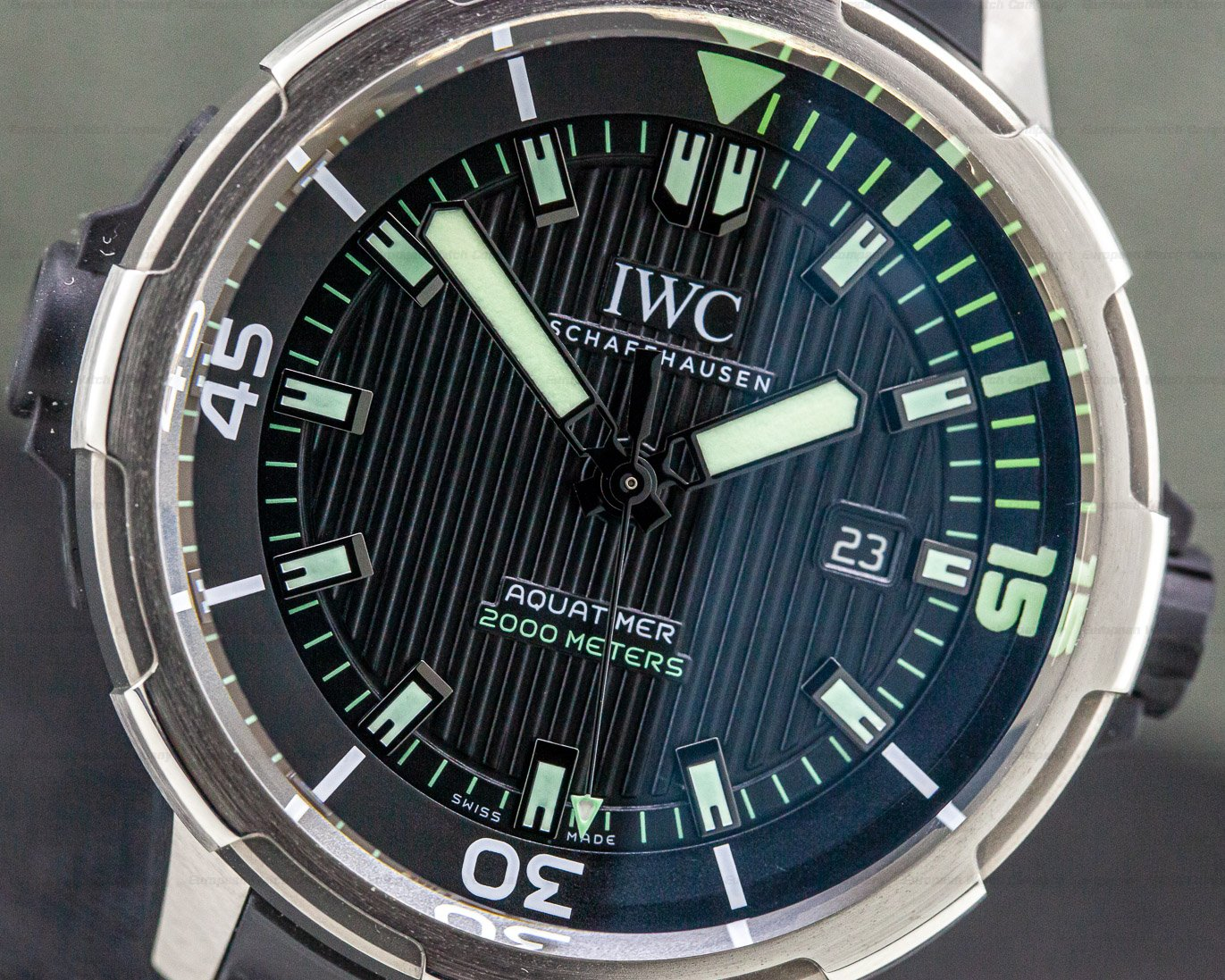 IWC IW358002 Aquatimer 2000 Automatic Black Dial Titanium / rubber strap