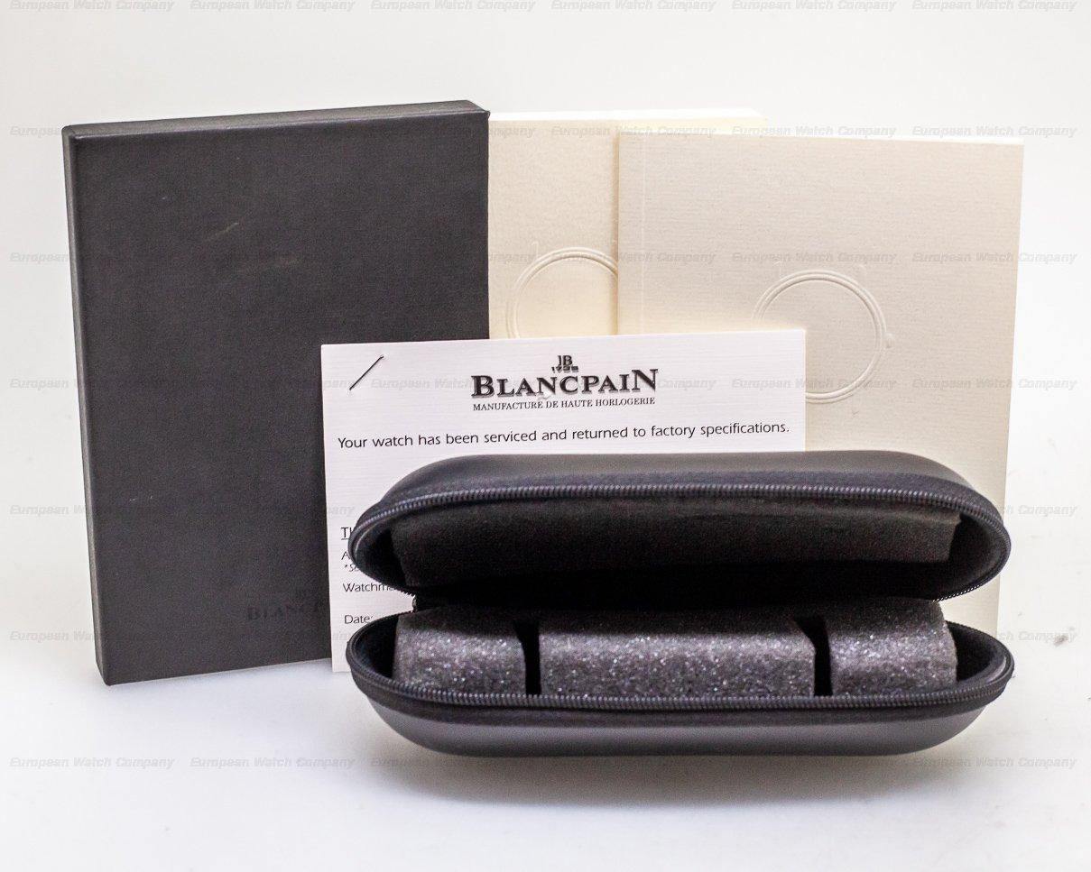 Blancpain 7002-1130-55 Ultra Thin Black Manual Wind Chronometer SS