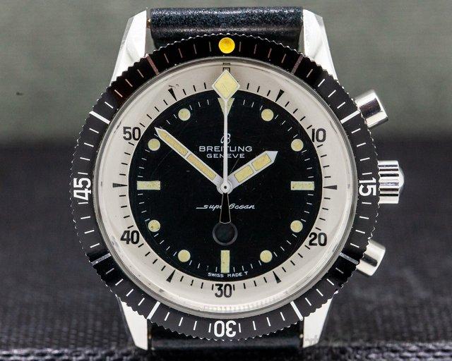 "Breitling 2005 Vintage Breitling SuperOcean ""Slow Counter"" Chronograph SHARP"