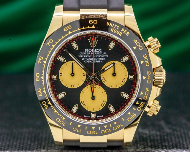 Rolex 116518LN Daytona Black Dial 18K Yellow Gold / Rubber UNWORN