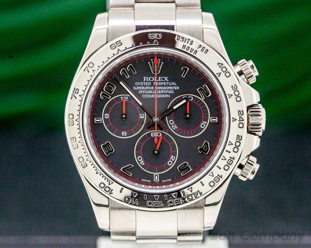 Rolex 116509 Daytona Slate Arabic 18K White Gold