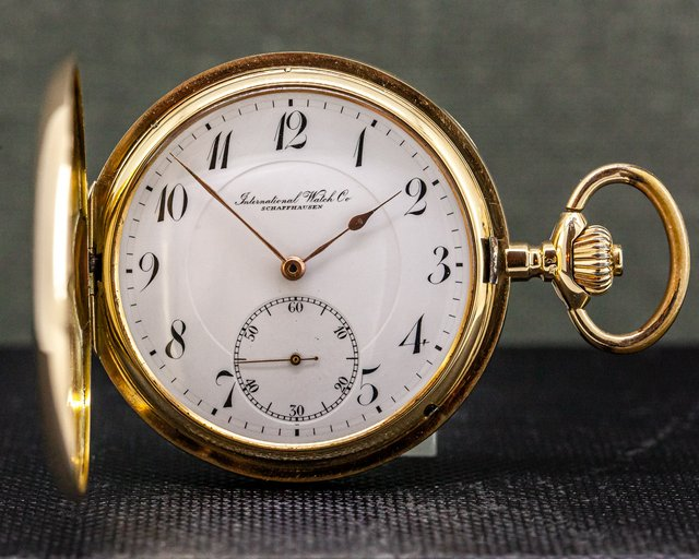 IWC  Vintage Pocket Watch 14K Yellow Gold 51MM