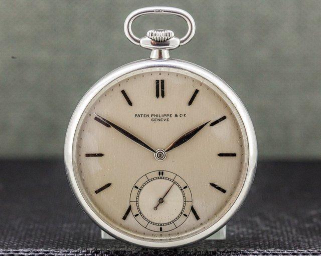 Patek Philippe   Patek Philippe & Cie Vintage Pocket Watch Stainless Steel 46MM