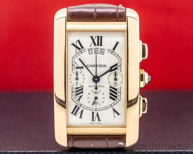 Cartier W2609356 Tank Americaine XL Chronograph 18K Rose Gold