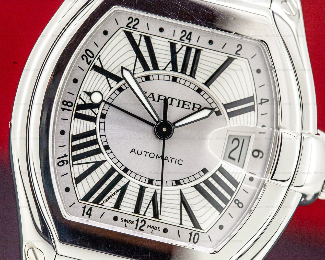 Cartier W62032X6 Roadster GMT XL SS