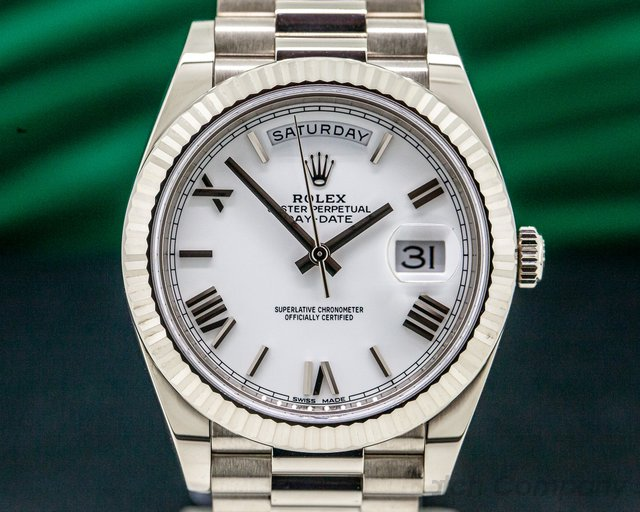 Rolex 228239 Day Date President 18K White Gold White Dial 40MM